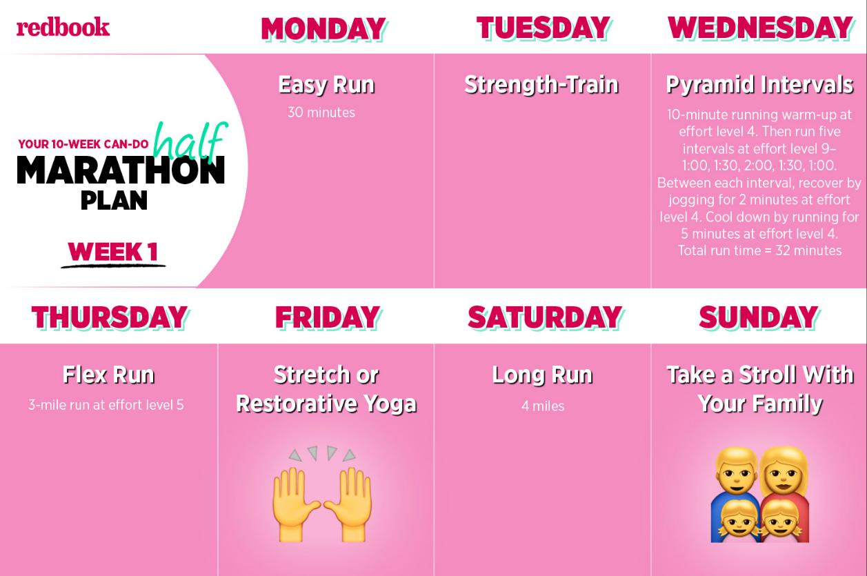 10-Week Beginner Half Marathon Plan